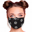 Adjustable motif masks black edelweiss