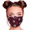 Adjustable motif masks brown edelweiss