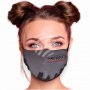 Adjustable motif mask black Frankfurt Skyline