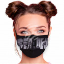 Adjustable motif mask black Berlin