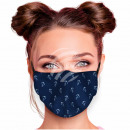 Adjustable motif mask dark blue anchor maritime