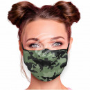 Adjustable motif mask green Camouflage