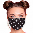 Adjustable motif mask black dots