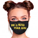 Adjustable motif mask yellow you'll never walk