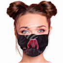 Adjustable black dog muzzle mask