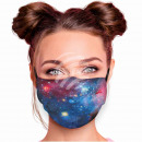 Adjustable motif mask black space galaxy