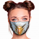 Adjustable motif mask multicolor eagle
