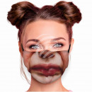 Adjustable motif mask multicolor face