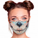 Adjustable motif mask multicolor mouth