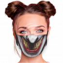 Adjustable motif mask multicolor villain smile