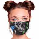 Adjustable motif mask black skull