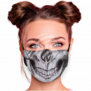 Adjustable motif mask black skull