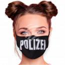 Adjustable black police masks