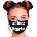 Adjustable black motif masks I hate