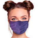 Adjustable motif masks violet purple triangles