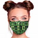 Adjustable motif masks black green squares