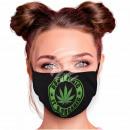 Adjustable motif masks black hemp Don't panic