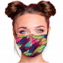 Adjustable motif masks multicolor leaves