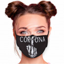 Adjustable black Corona motif masks