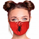 Adjustable motif masks red spider spider