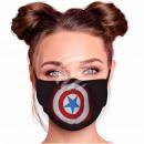 Adjustable motif masks black superhero shield