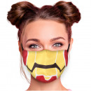 Adjustable motif masks red yellow superhero