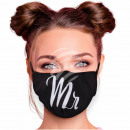 Adjustable motif masks black Mister Mr