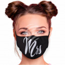 Adjustable motif masks black Misses Mrs