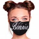 Adjustable motif masks black Bonnie