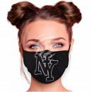 Justerbara motivmasker svart NY New York