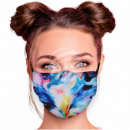 Adjustable motif masks multicolour washed out