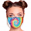 Adjustable motif masks multicolor spiral