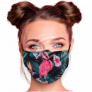 Adjustable motif masks black flowers blossoms