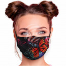 Adjustable motif masks black butterflies