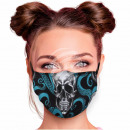 Adjustable motif masks black skull