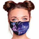 Adjustable motif masks black purple butter