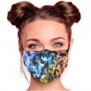 Adjustable motif masks black smoke