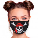 Adjustable motif masks black pirate skull