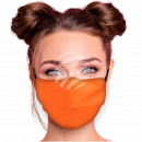 Justerbara motivmasker orange monokrom