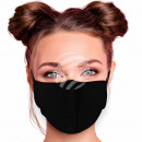 Adjustable motif mask monochrome black