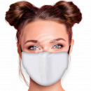 Adjustable motif mask plain white