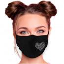 Adjustable motif masks black glitter rhinestones
