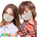 Tryckta barnmasker med pastellokertryck