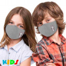 Printed children's masks with print pastel gre