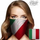 Bandana Kopftuch Halstuch Italien Flagge rot, weiß