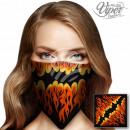 Bandana Kopftuch Halstuch Flammen schwarz