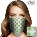 BA-038 Bandana hemp plant green white