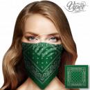 Bandana Kopftuch Halstuch Paisley grün