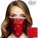 Bandana Kopftuch Halstuch asiatische Zeichen rot