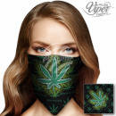 BA-131 Bandana Black / Green Leaf
